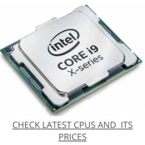Check new CPUs with Latest price
